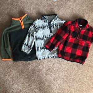 Fleece pullovers - zip up EUC